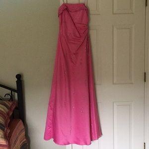 Fushia colored prom dress